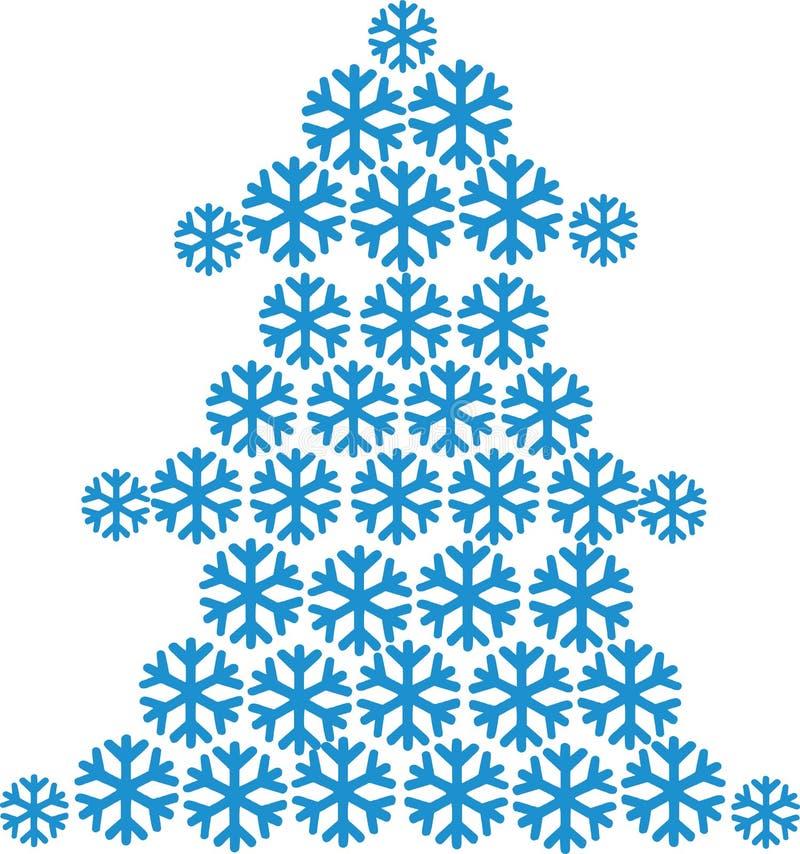 Albero di abete costruito dei fiocchi di neve royalty illustrazione gratis