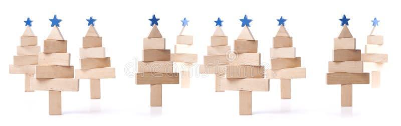 Albero di abete delle barre di legno fotografia stock libera da diritti