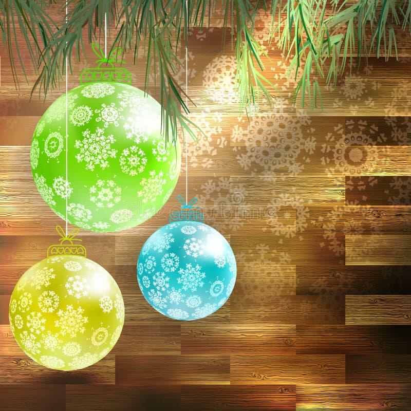 Albero di abete di Natale con la decorazione. ENV 10 illustrazione di stock