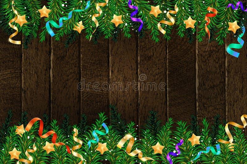 Albero 2019 di abete di Natale con la decorazione royalty illustrazione gratis