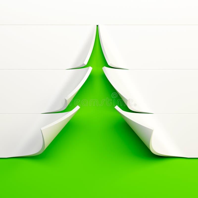 albero di abete simbolico del nuovo anno 3d illustrazione di stock