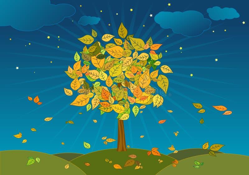 Albero di autunno, vettore illustrazione vettoriale