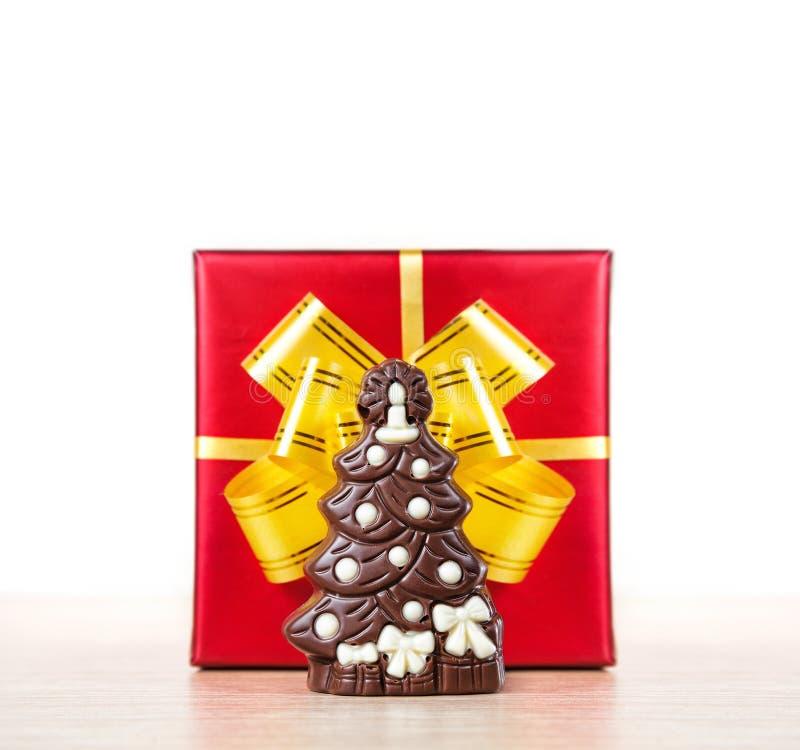 Albero di cioccolato di natale fotografia stock