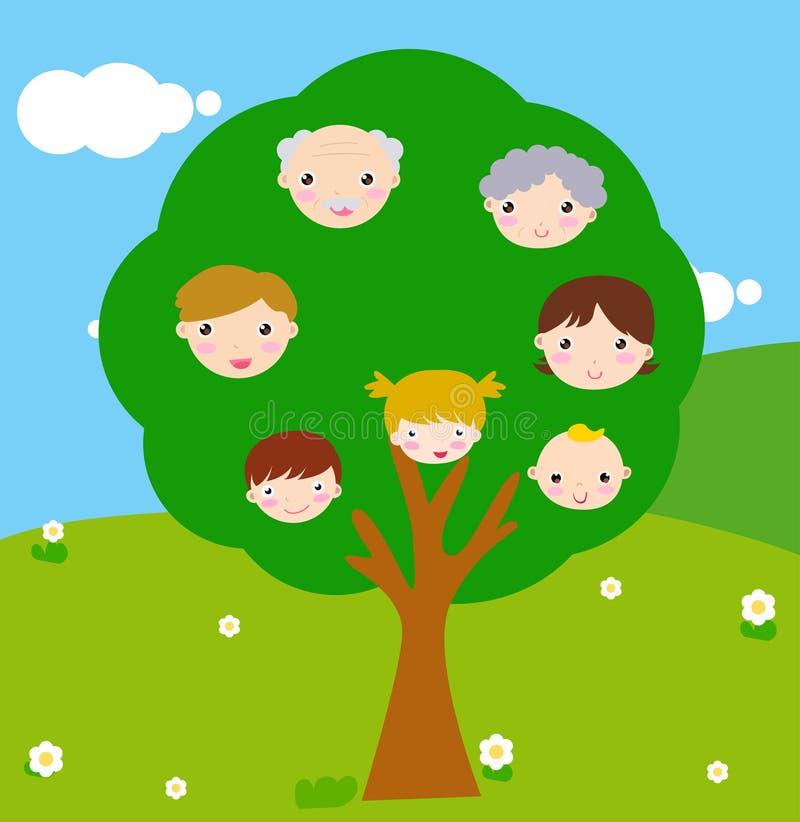 Albero di famiglia illustrazione vettoriale