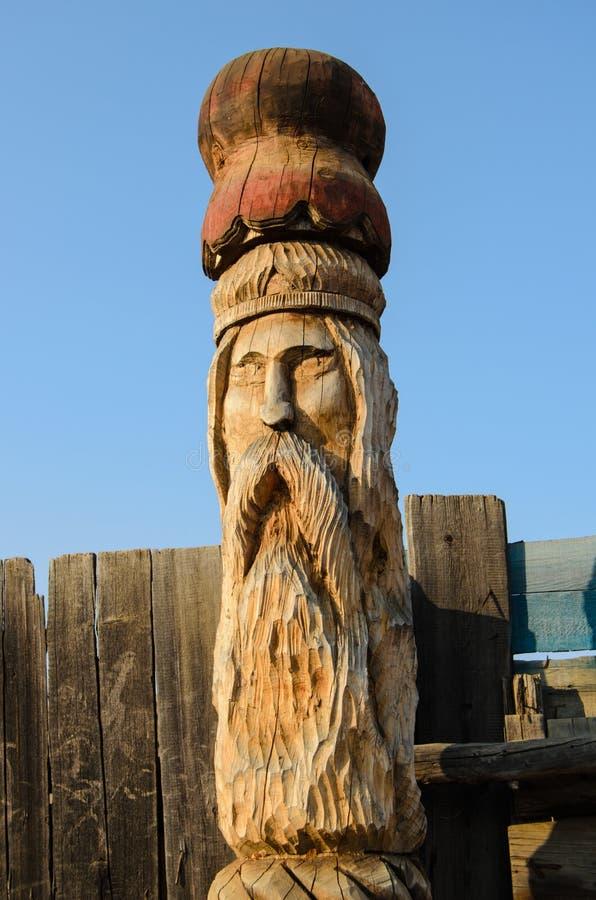 Albero di legno di sculpture fotografie stock