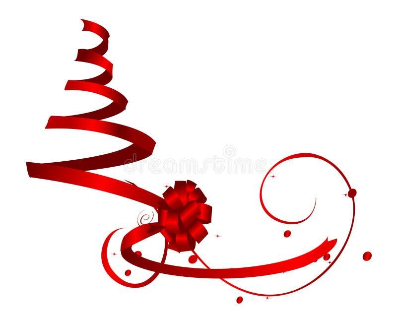 Albero di nastro rosso illustrazione vettoriale