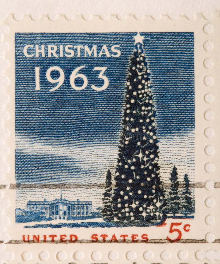 Albero di Natale 1963 dell'annata fotografia stock libera da diritti
