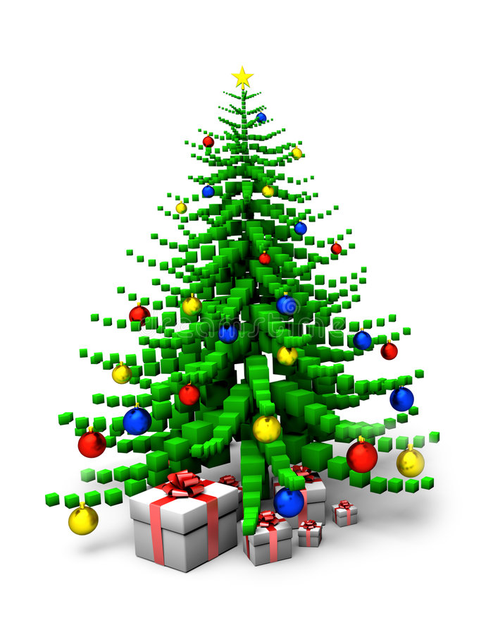 Download Albero di Natale 2 illustrazione di stock. Illustrazione di appendere - 3134131