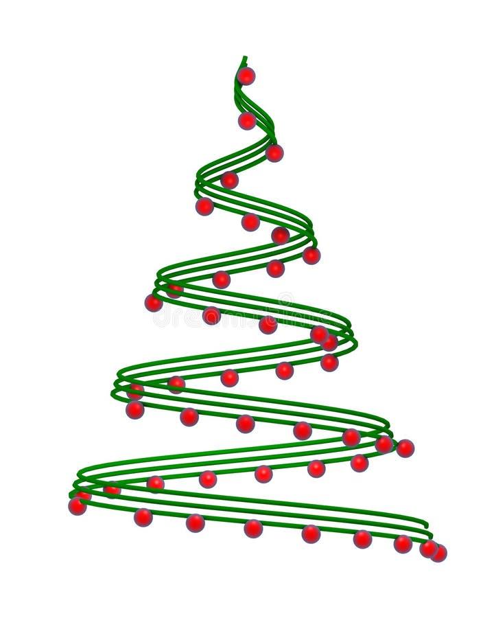albero di Natale 3d illustrazione di stock