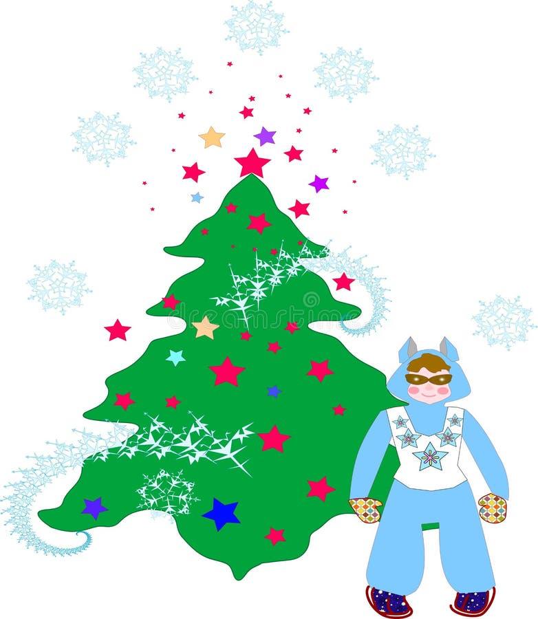 Download Albero di Natale illustrazione vettoriale. Illustrazione di nuovo - 7304699