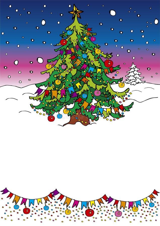 Download Albero di Natale illustrazione vettoriale. Illustrazione di albero - 7321404