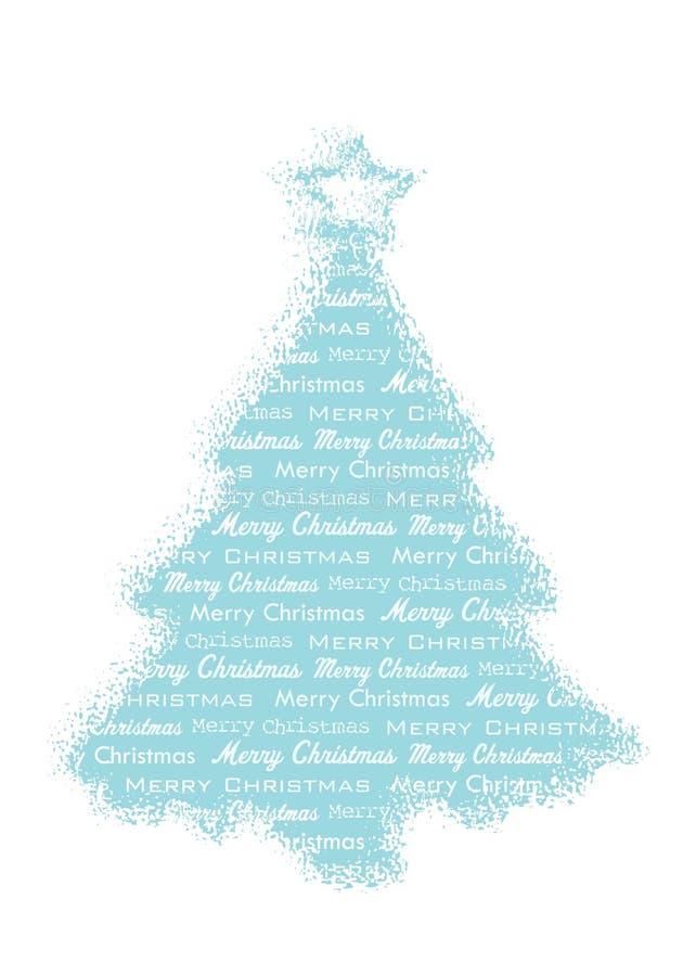 Albero di Natale allegro illustrazione di stock