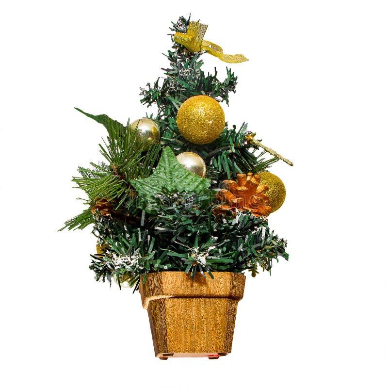 albero di Natale artificiale immagini stock libere da diritti