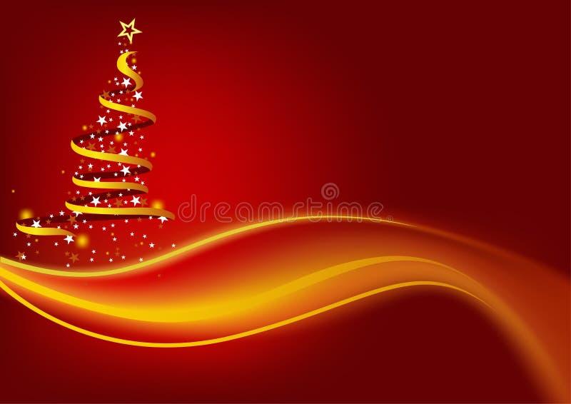 Albero di Natale astratto illustrazione vettoriale
