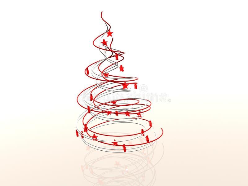 Albero di Natale astratto moderno di Wireframe illustrazione di stock