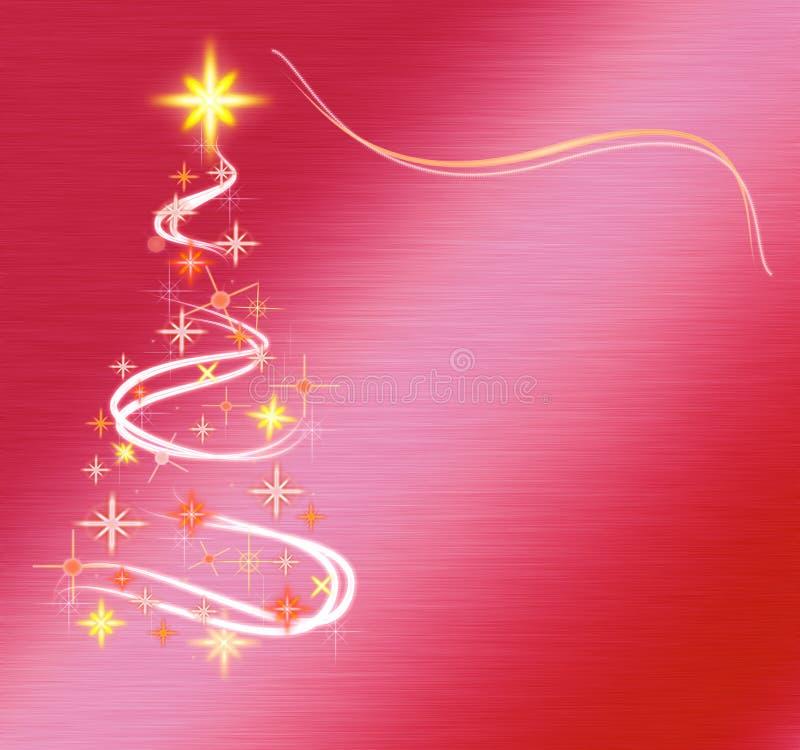 Albero di Natale astratto su colore rosso immagini stock libere da diritti