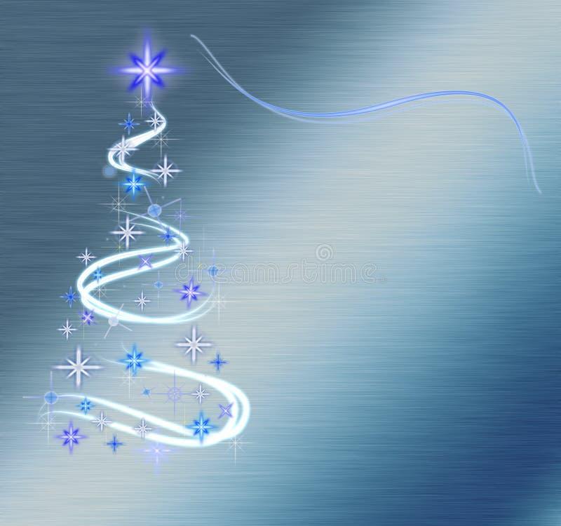 Albero di Natale astratto sull'azzurro fotografie stock