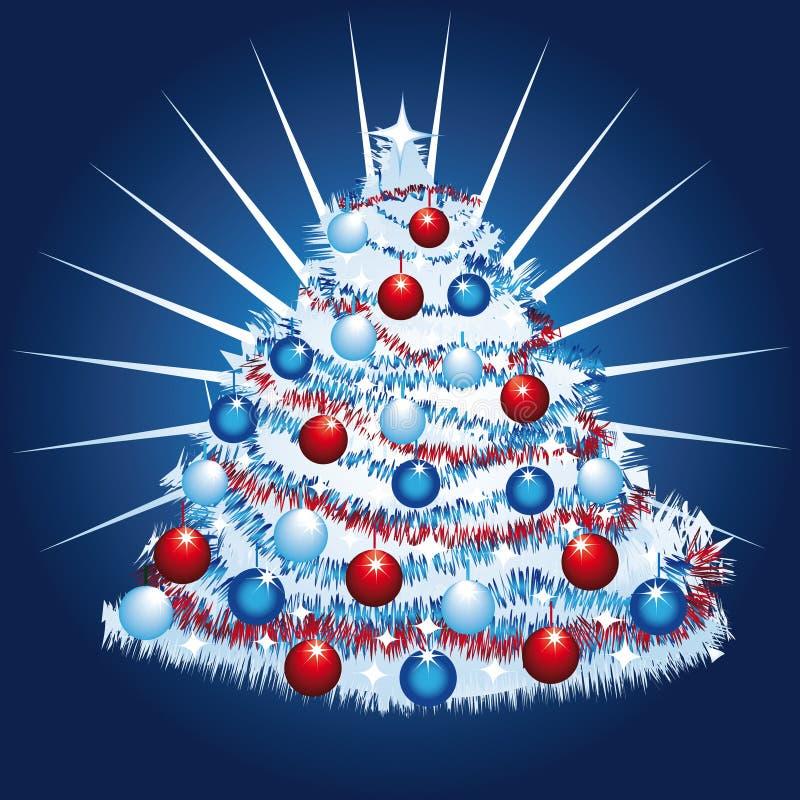 Download Albero di Natale bianco illustrazione vettoriale. Illustrazione di festive - 7321894