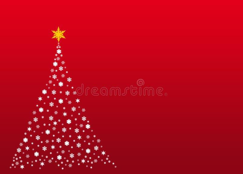 Albero di Natale bianco su colore rosso immagine stock