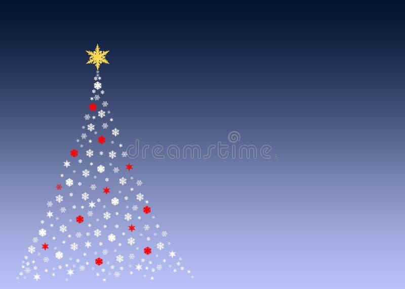 Albero di Natale bianco su verde fotografia stock libera da diritti