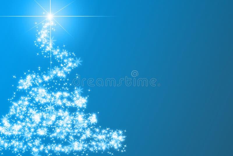 Albero di Natale blu astratto royalty illustrazione gratis