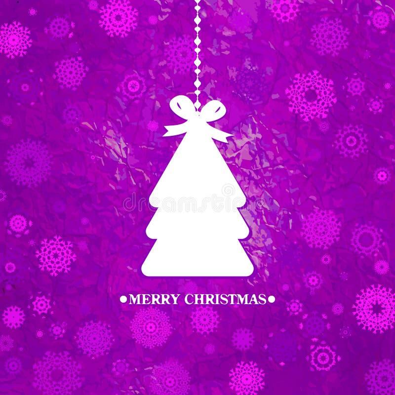 Albero Di Natale Blu Decorato. ENV 8 Fotografia Stock