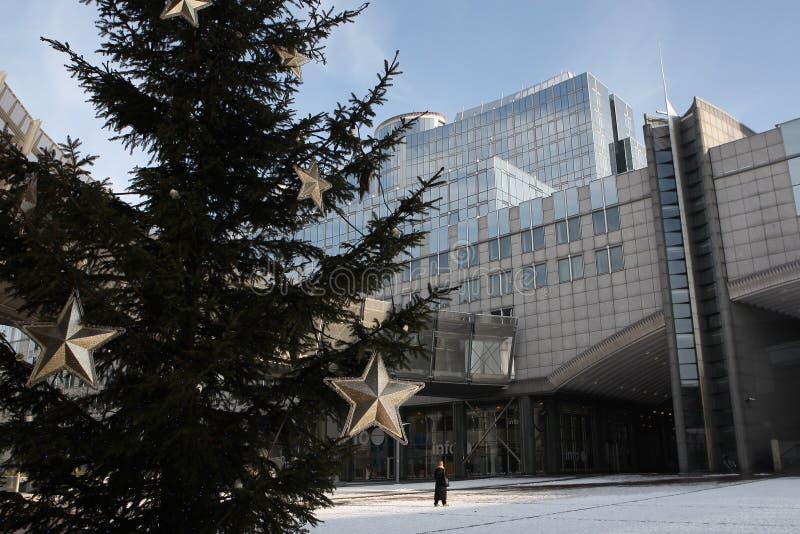 Albero di Natale a Bruxelles immagini stock libere da diritti