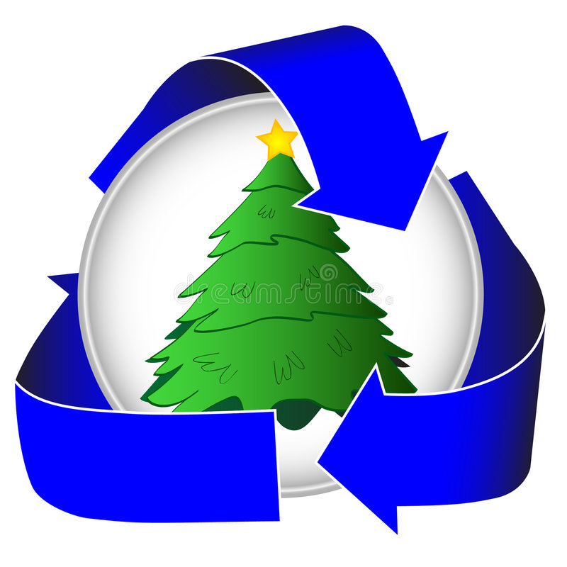 Albero di Natale che ricicla icona illustrazione vettoriale