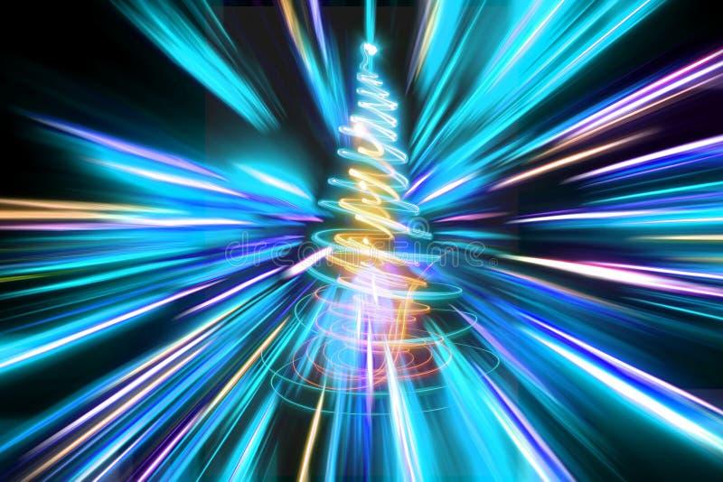albero di Natale di colore illustrazione vettoriale