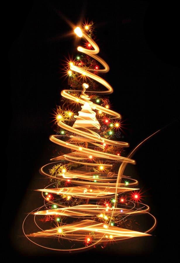 albero di Natale di colore illustrazione di stock