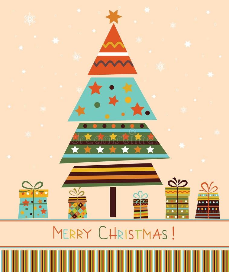 Albero di Natale con i regali. royalty illustrazione gratis