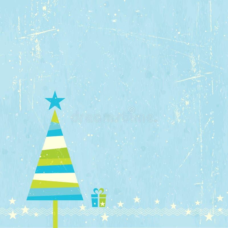 Albero di Natale con il presente royalty illustrazione gratis