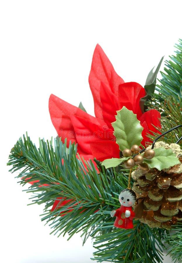 Albero di Natale con l'angelo fotografia stock libera da diritti