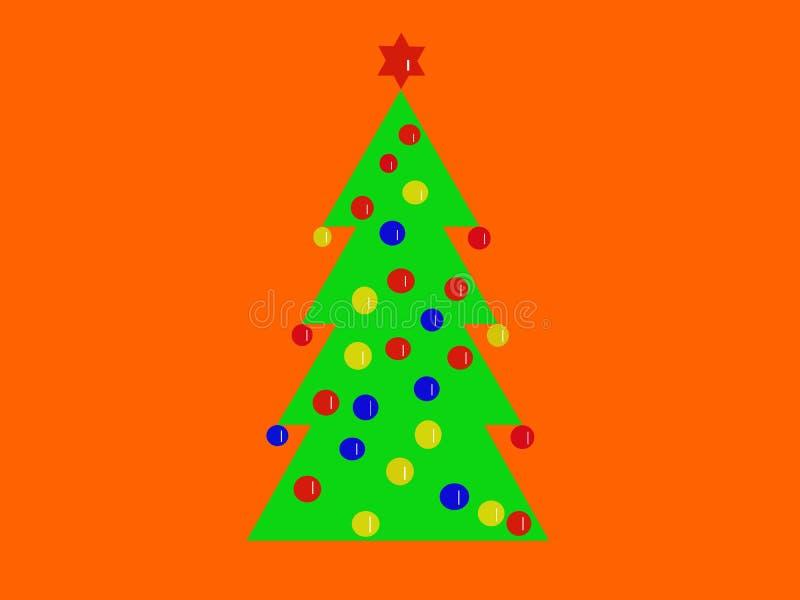 Albero di Natale con la decorazione royalty illustrazione gratis