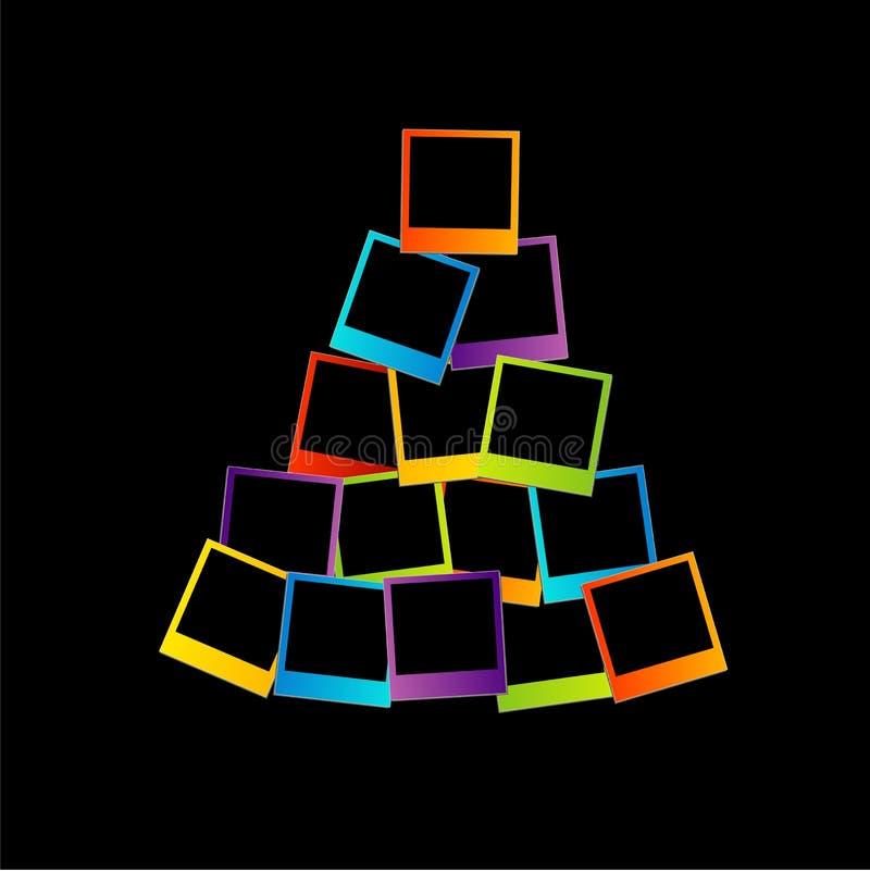 Albero di Natale con le polaroid royalty illustrazione gratis