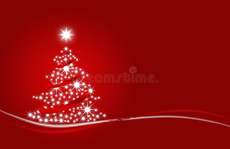 Albero di Natale con le stelle rosse fotografie stock