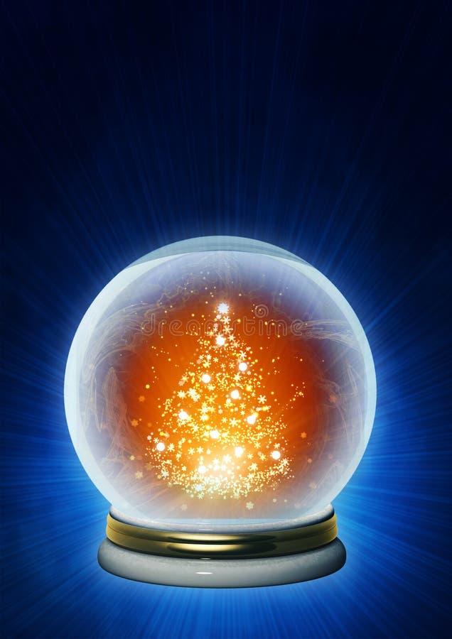 Albero di Natale in cristallo magico illustrazione vettoriale