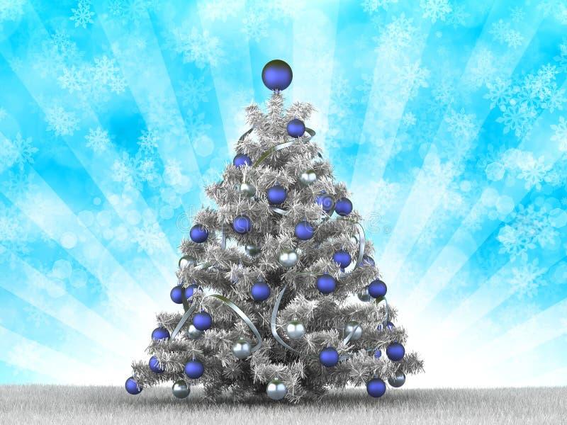 Albero di Natale d'argento illustrazione di stock