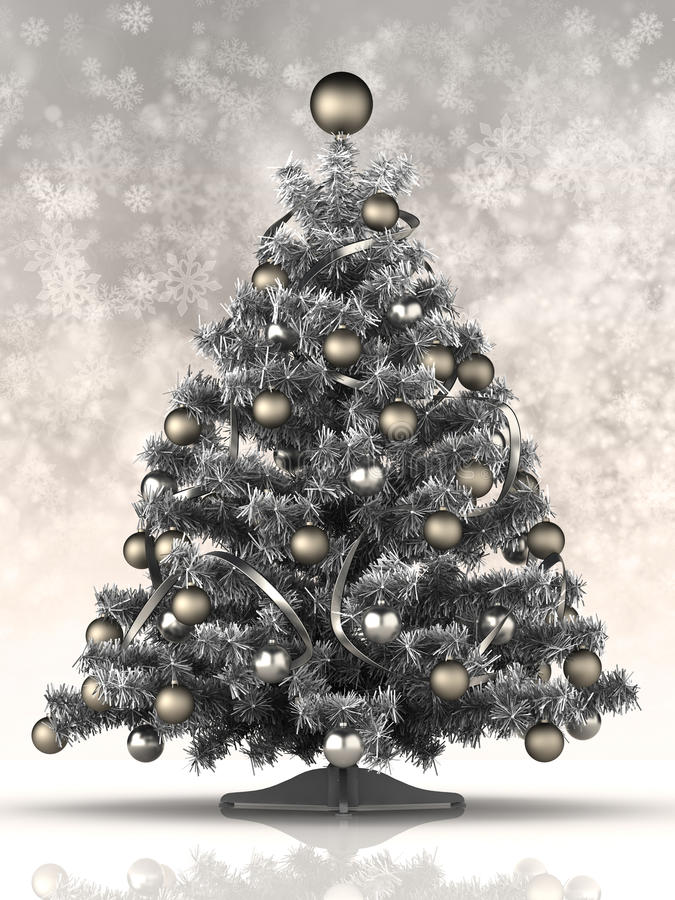Albero di Natale d'argento royalty illustrazione gratis
