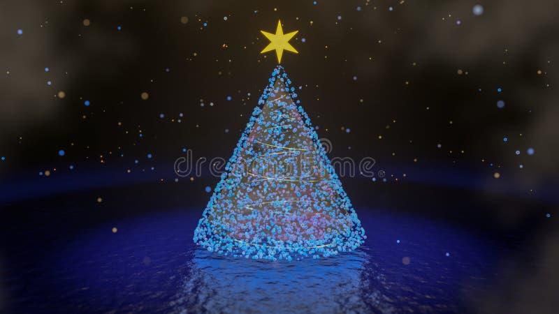 Albero di Natale - 3D rendono fotografia stock libera da diritti