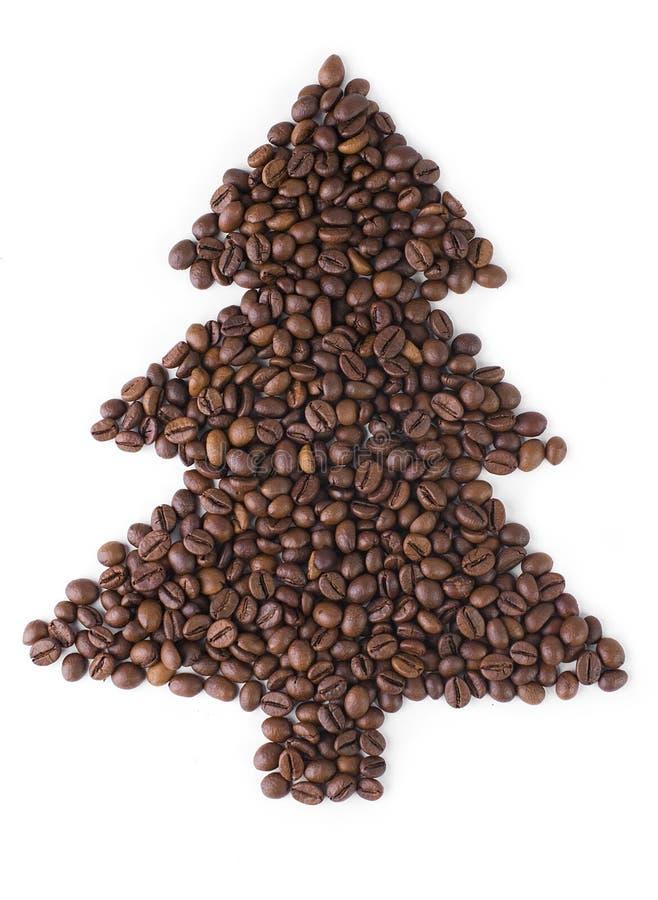 Albero di Natale dai chicchi di caffè. immagine stock