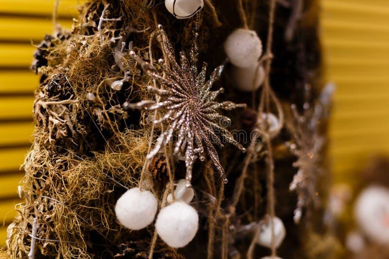Albero di Natale dalla corda fotografie stock