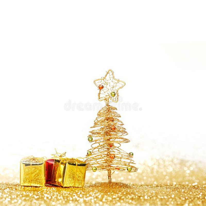 Albero di Natale decorativo immagine stock