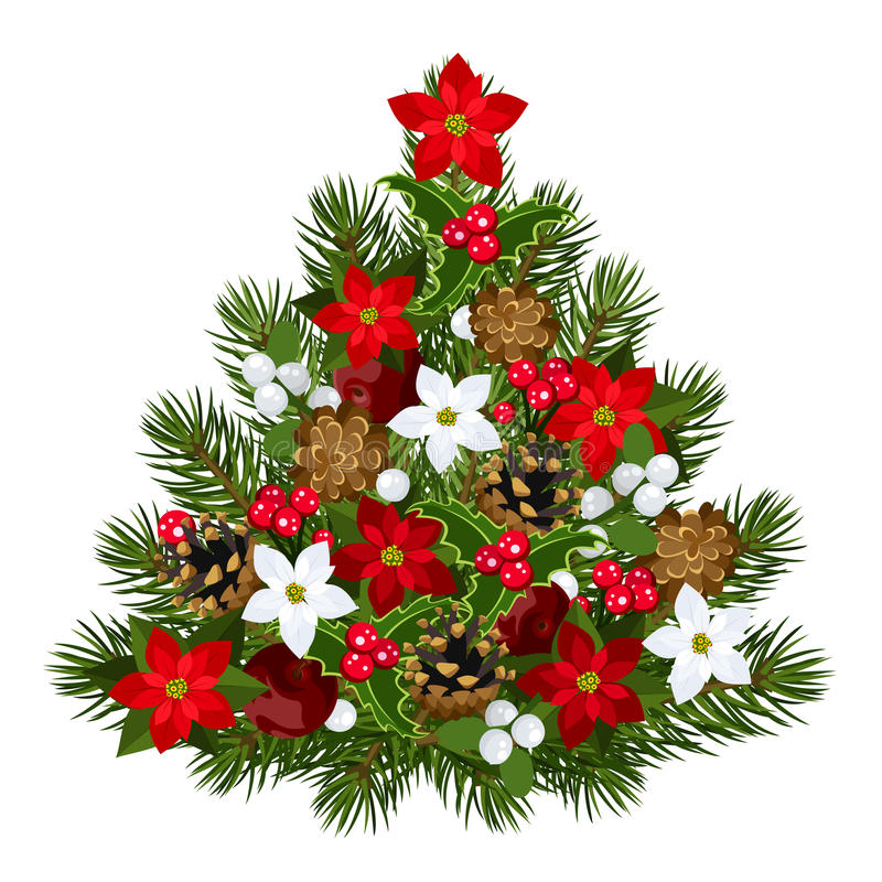 Albero di Natale decorativo. royalty illustrazione gratis