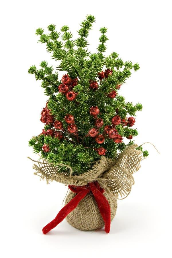 Albero di Natale decorativo artificiale fotografie stock libere da diritti