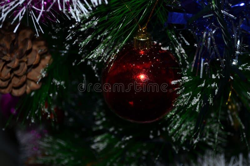 Albero di Natale decorato immagini stock