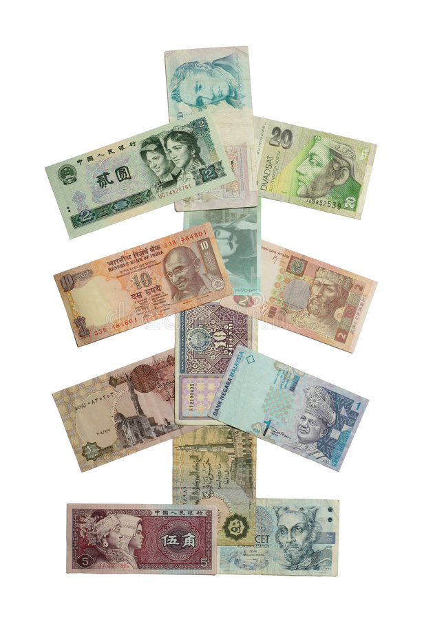 Download Albero di Natale dei soldi immagine stock. Immagine di accumulazione - 7304203