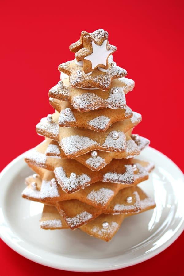 Albero di Natale del biscotto immagine stock