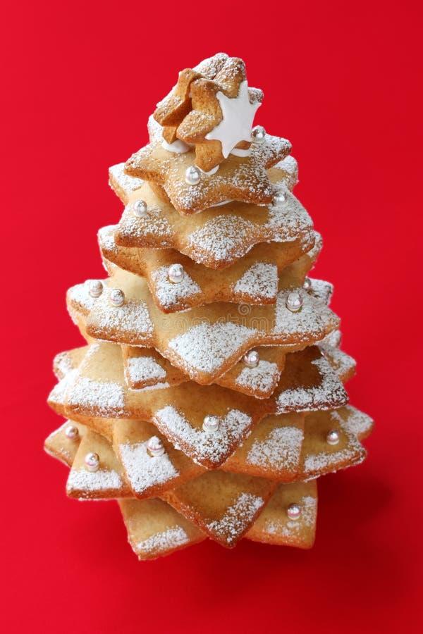 Albero di Natale del biscotto fotografie stock libere da diritti