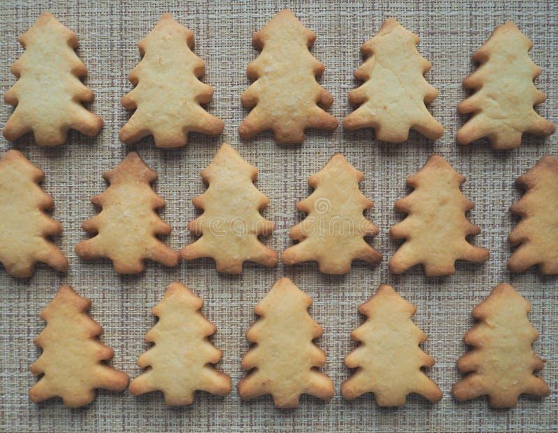 Albero di Natale del biscotto Priorità bassa dell'alimento fotografie stock